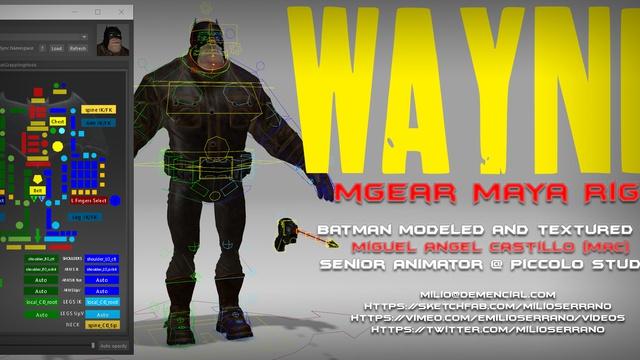 Wayne, Maya mGear Rig